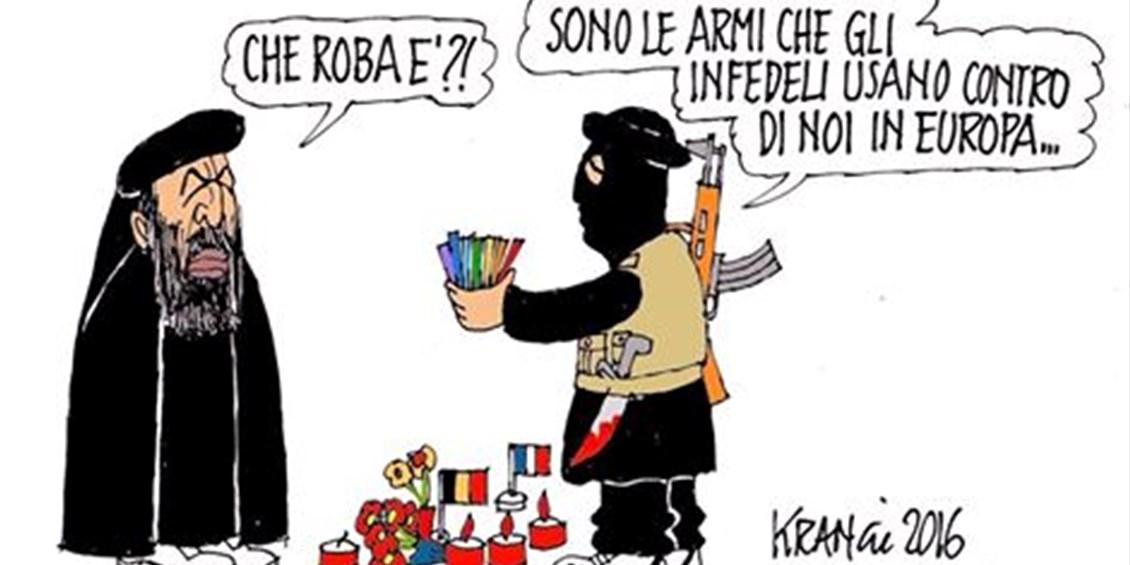 Risultati immagini per gessetti colorati terrorismo