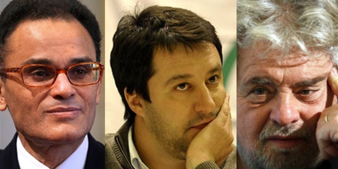 Elezioni Europee 2014: Grillo, Salvini e Allam avviano la campagna del No Euro