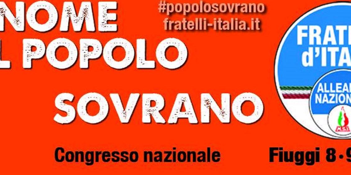 Il Congresso di Fratelli d'Italia - Alleanza Nazionale ufficializza l'uscita dell'Italia dall'euro