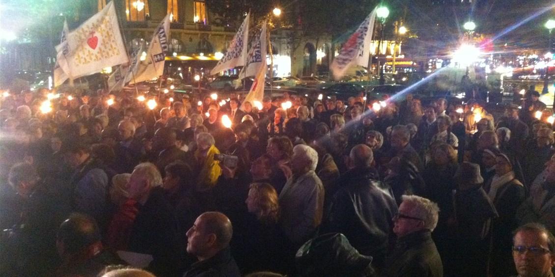 Intervento alla Veglia nazionale a Parigi contro il genocidio dei cristiani nei Paesi islamici - Appel à la Veillée nationale de solidarité et prière pour les chrétiens persécutés